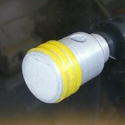 Fichier imprimante 3D gratuit Bouton de porte déco piston, als