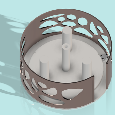 base papier  2.png Télécharger fichier STL gratuit Distributeur triple pour papier toilette • Design à imprimer en 3D, als