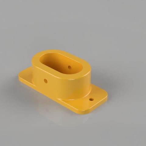 support bar oval wardrobe 3D model, als