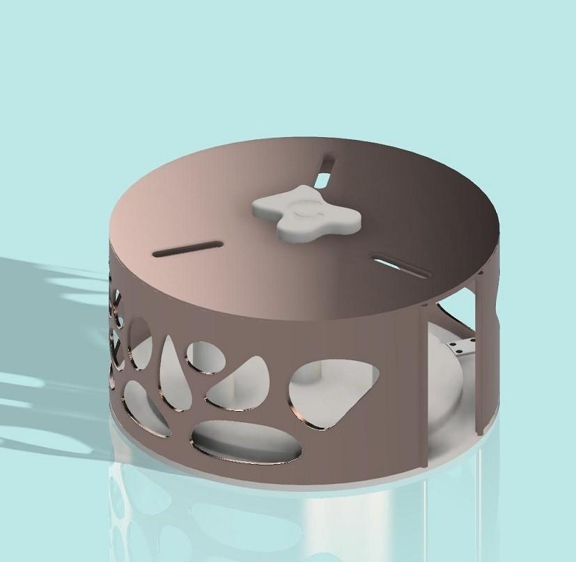 distributeur de papier.jpg Télécharger fichier STL gratuit Distributeur triple pour papier toilette • Design à imprimer en 3D, als