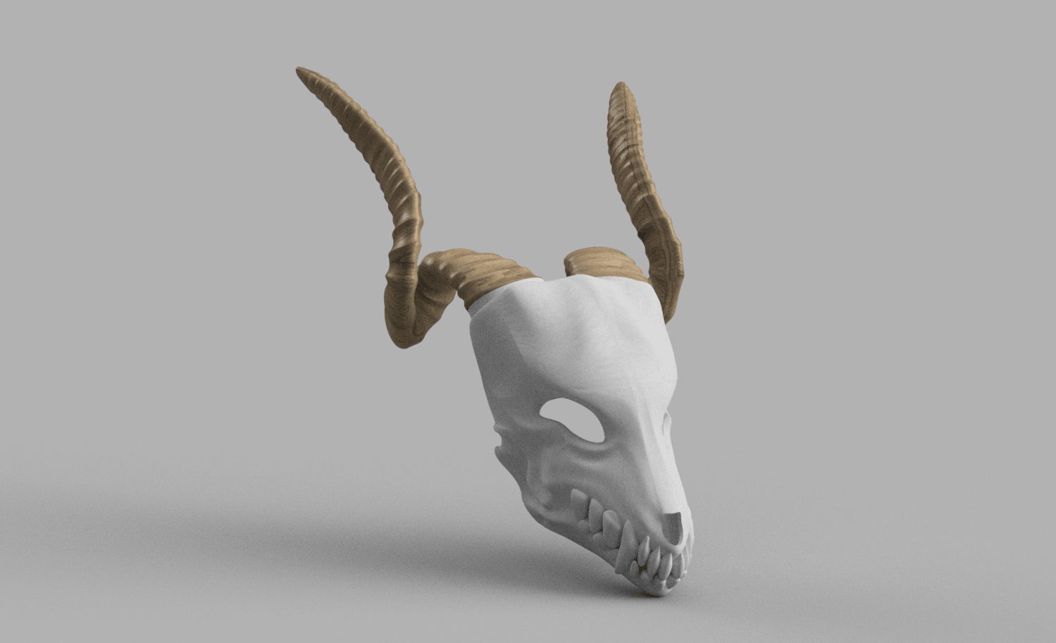 CHEREP NAREZKA v10.png Download STL file Elias Ainsworth Mask | The Ancient Magus' Bride Mask  • 3D printer design, AntonShtern