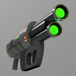 Download STL file Rick & Morty's Blaster | Rick's Ray Gun | Laser Gun | Energy Gun • 3D printer template, AntonShtern