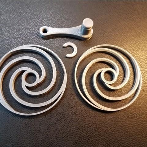 5b93913d6a334b26090c12159b8e869c_preview_featured.jpg Download free STL file Spiral optic illusion 2 • 3D printing design, NOP21