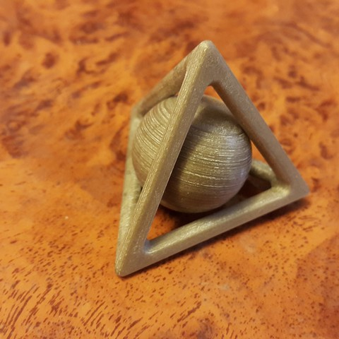 20161013_153203.jpg Download free STL file Tetrahedron and captive sphere. • 3D printer object, NOP21