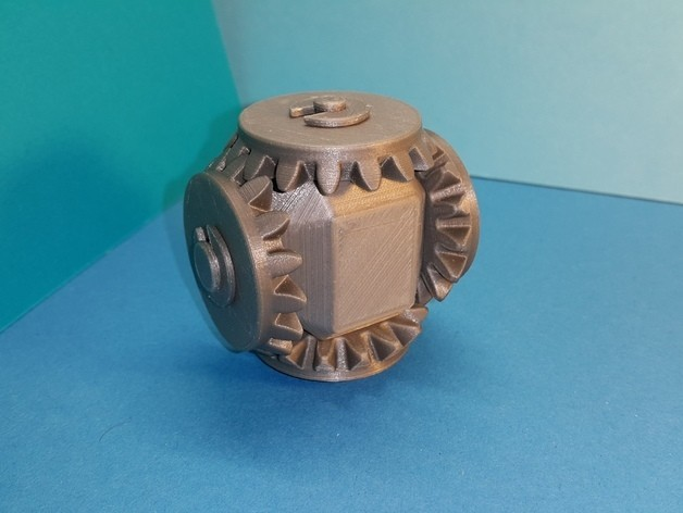 55fb43bbda3530a460cda279500771c9_preview_featured.jpg Download free STL file Head with 4 bevel gears • 3D print template, NOP21