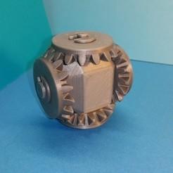 55fb43bbda3530a460cda279500771c9_preview_featured.jpg Télécharger fichier STL gratuit Tête avec 4 pignons coniques • Modèle imprimable en 3D, NOP21