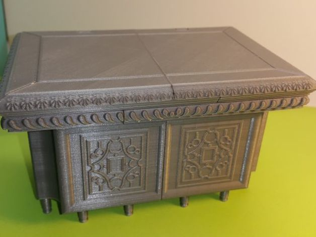 30f534f31584e30c73ae4ec03bcb27ae_preview_featured.jpg Download free STL file Box - Chest Renaissance XVI ème • 3D printing object, NOP21