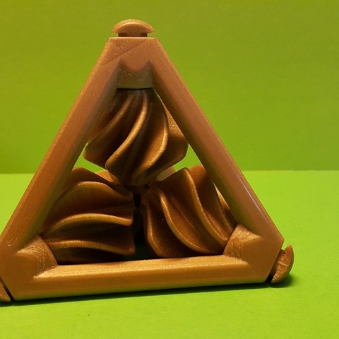 Free 3d printer model Tetrahedron with Propellers - Tetraedron with helices, NOP21
