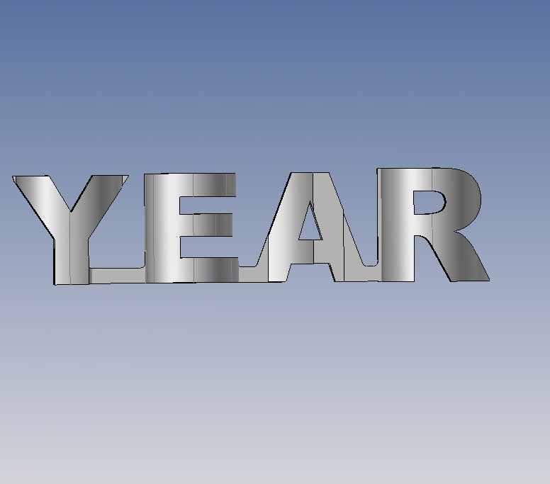 year.jpg Télécharger fichier STL gratuit YEAR 2019 • Objet pour imprimante 3D, NOP21