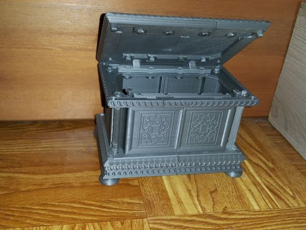 89e859e727aaa316fa8b00234c581651_preview_featured.jpg Download free STL file Box - Chest Renaissance XVI ème • 3D printing object, NOP21