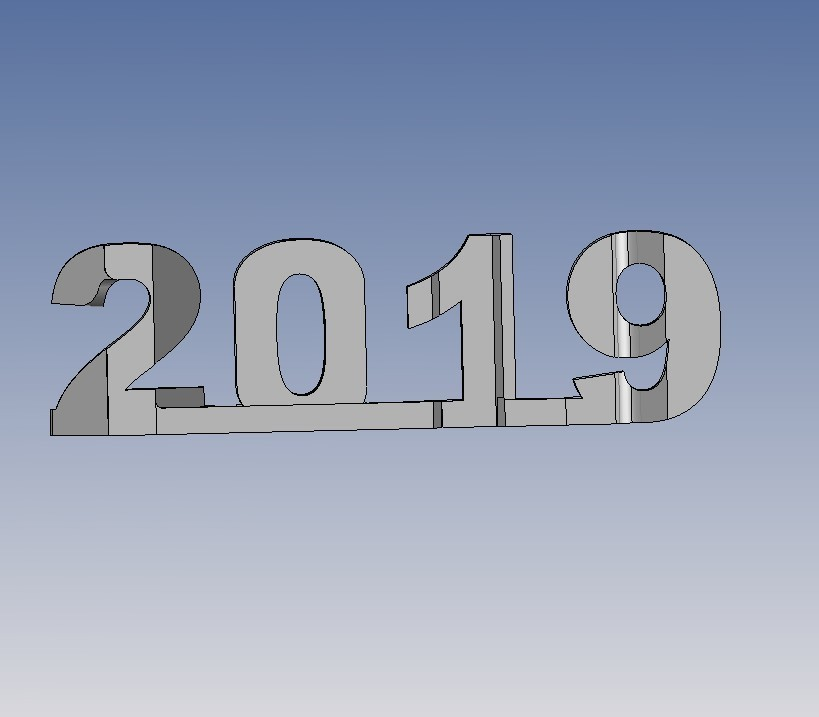 2019.jpg Télécharger fichier STL gratuit YEAR 2019 • Objet pour imprimante 3D, NOP21