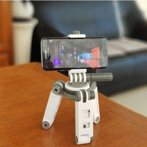 Download free 3D printer templates Tripod smartphone, NOP21