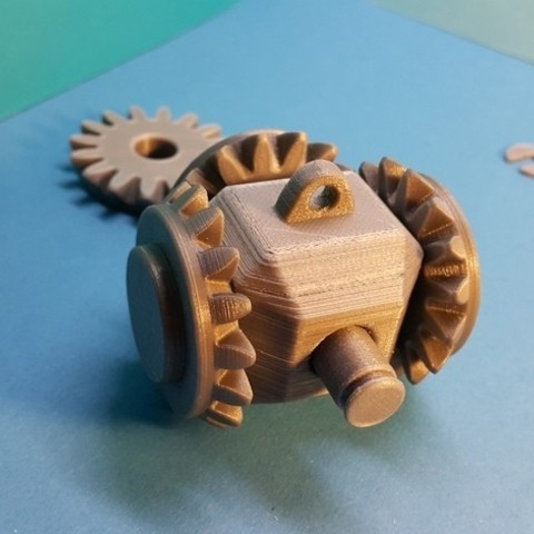 7fd9f804adfcc2c2776121c6201e780d_preview_featured.jpg Download free STL file Head with 4 bevel gears • 3D print template, NOP21