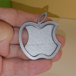 Free stl files APPLE logo, NOP21