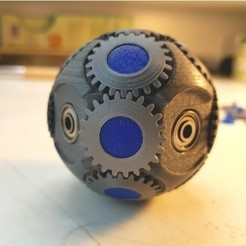 Free stl file Spherical gears - Fidget, NOP21
