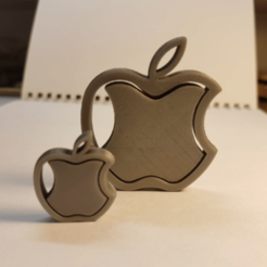 stl Logotipo APPLE - colgante gratis, NOP21