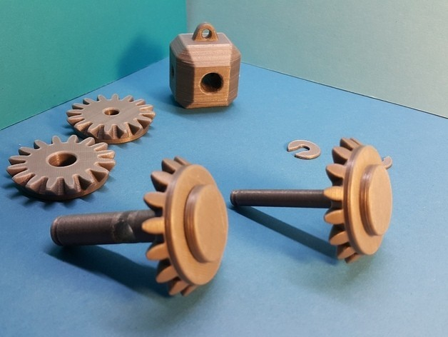 0a122732081d907ee8ad4fd57c1fd93d_preview_featured.jpg Download free STL file Head with 4 bevel gears • 3D print template, NOP21