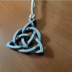 Free 3D printer designs Triquetra with prisoner ring, NOP21