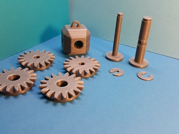 5258407219275626693224d1e9af1811_preview_featured.jpg Download free STL file Head with 4 bevel gears • 3D print template, NOP21