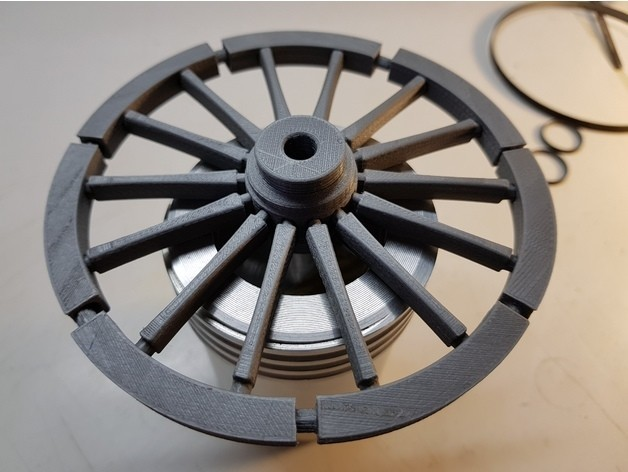1ab5a8594c025a5d30c5b6c87e879b4c_preview_featured.jpg Download free STL file A spinning wheel • 3D printing template, NOP21