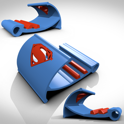 3D printer files Superman tablet and smartphone holders, 3Dvision