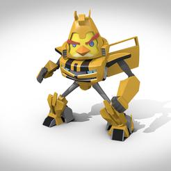 "Objet 3D Chuck "" bumblebee "", 3Dvision"