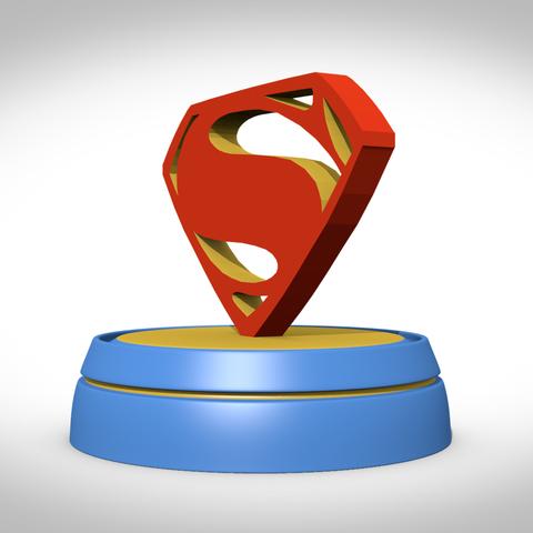 Fichier stl superman symbole cults - Symbole de superman ...