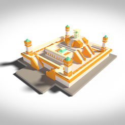 3D printer models Maya Temple, 3Dvision