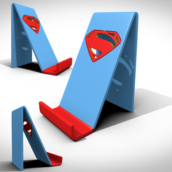 STL file Superman support smartphone , 3Dvision