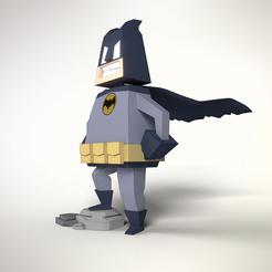 "STL Batman ""Low poli"", 3Dvision"