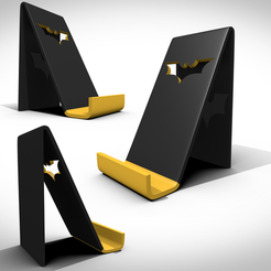 Download 3D printer templates Batman support smartphone, 3Dvision