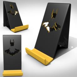 STL file Support smartphone batman, 3Dvision