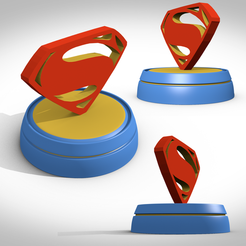 STL file superman symbol, 3Dvision