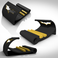 STL files Bat-support tablettes et martphone, 3Dvision