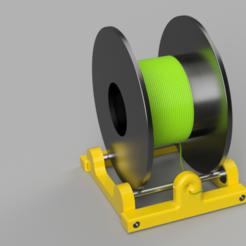 Dévidoir rouleau filament v7.png Télécharger fichier STL gratuit Dévidoir rouleau filament imprimante 3D FDM • Objet imprimable en 3D, FredThx