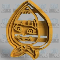 Download 3D printer designs Masha Cookie Cutter, 3DDruck