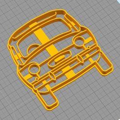 3D printer models Cookie Cutter- Fiat 600 Cutter, juampi94