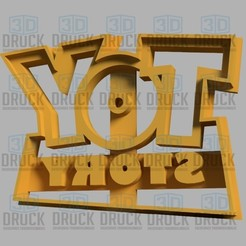 Descargar modelos 3D Toy Story Cookie Cutter, 3DDruck
