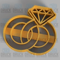 Télécharger fichier 3D Bague - Ring Cookie Cutter, 3DDruck