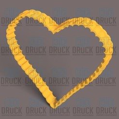 Corazon rugoso.jpg Download STL file Perfect Heart Rough - Perfect Heart Ruguso Cookie Cutter • 3D printing model, 3DDruck