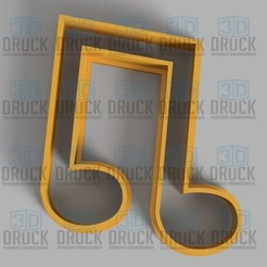 Descargar archivos STL Nota Musical - Musical Note Cookie Cutter, 3DDruck