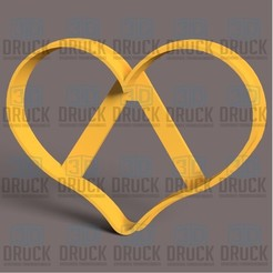 Corazon 8cm.jpg Download STL file Perfect Heart - Perfect Heart Cookie Cutter • 3D printer object, 3DDruck
