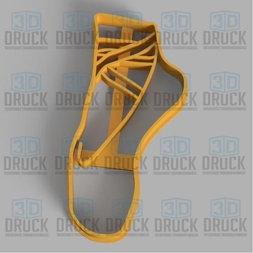 zapato.jpg Télécharger fichier STL Chaussures de ballet - Ballet Shoe Cookie Cutter • Design pour impression 3D, 3DDruck