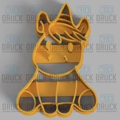 Descargar modelos 3D Unicornio - Unicorn Cookie Cutter, 3DDruck