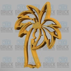 Download 3D model Palm tree - Palm tree Cookie Cutter, 3DDruck