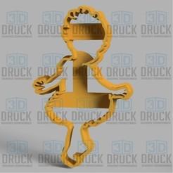 Télécharger STL Danseuse - Danseuse Cookie Cutter, 3DDruck