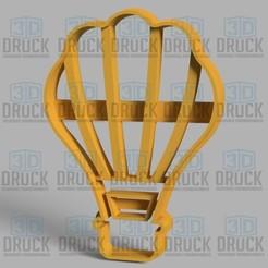 globo1.jpg Download STL file Hot Air Balloon - Hot Air Balloon Cookie Cutter • 3D printing model, 3DDruck