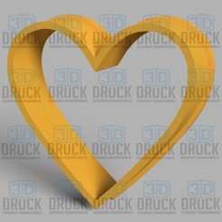 Download 3D printer files Perfect Heart - Perfect Heart Cookie Cutter, 3DDruck