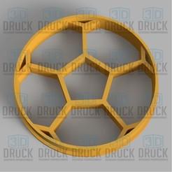 Télécharger plan imprimante 3D Ballon de soccer Ballon de soccer Coupe-cookie de ballon de soccer, 3DDruck