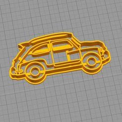 STL files Cookie Cutter - Cutter Fiat 600 1, juampi94